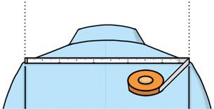 ハンガーサイズの測り方
