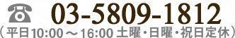 03-3888-9188(平日10:00~18:00 土曜・日曜・祝日定休)